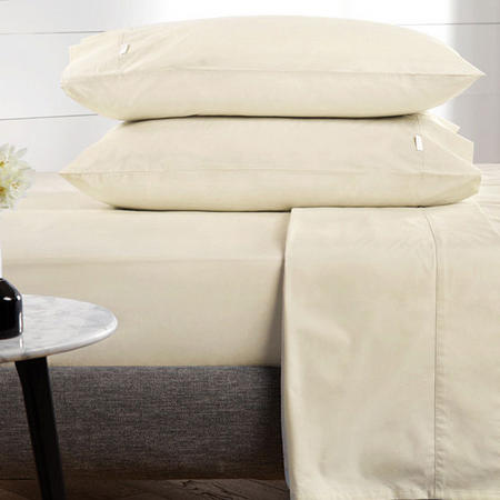 Classic Percale - 300tc Quilted Valance Chalk