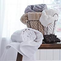 Cotton Soft Ribbed Towel Grey