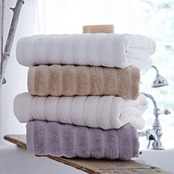 Cotton Soft Ribbed Towel White