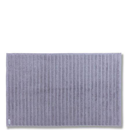 Cotton Soft Ribbed Bath Mat Grey