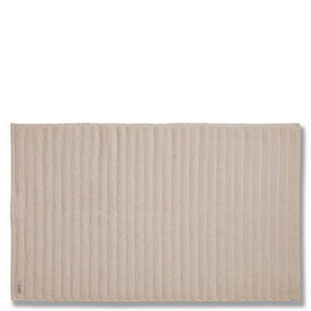 Cotton Soft Ribbed Bath Mat Natural