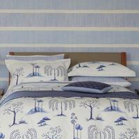 Willow Tree Standard Pillowcase Blue