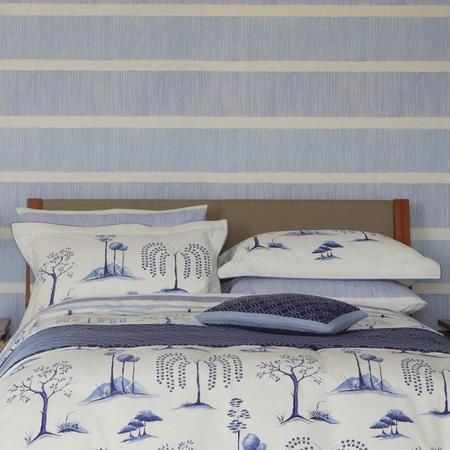 Willow Tree Oxford Pillowcase Blue