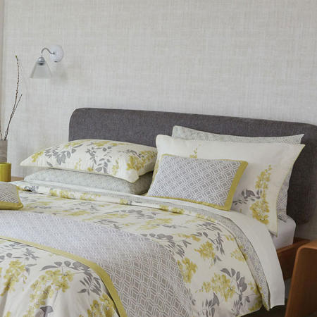 Wisteria Blossom Oxford Pillowcase Mustard