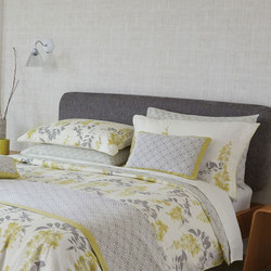 Wisteria Blossom Oxford Pillowcase Mustard