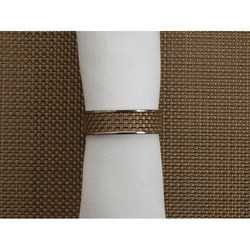 Mini Basketweve Napkin Tidy Gold