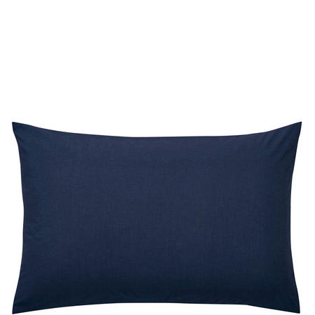 Percale Standard Pillowcase Navy