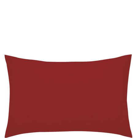Percale Standard Pillowcase Red