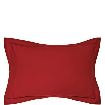Percale Oxford Pillowcase Red