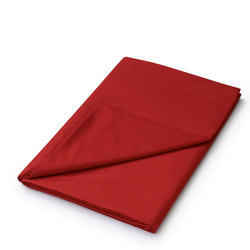 Percale Flat Sheet Red