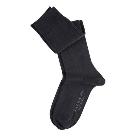 Soft Merino Knee High Socks Black