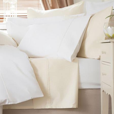 600 Thread Count Cotton Sateen Oxford Pillowcase White