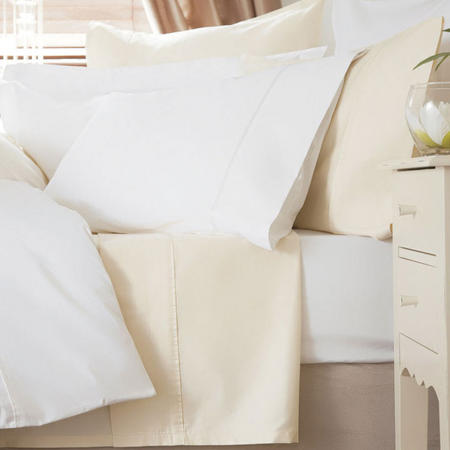 600 Thread Count Cotton Sateen Standard Pillowcase Ivory