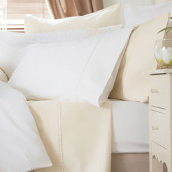 600 Thread Count Cotton Sateen Oxford Pillowcase Ivory