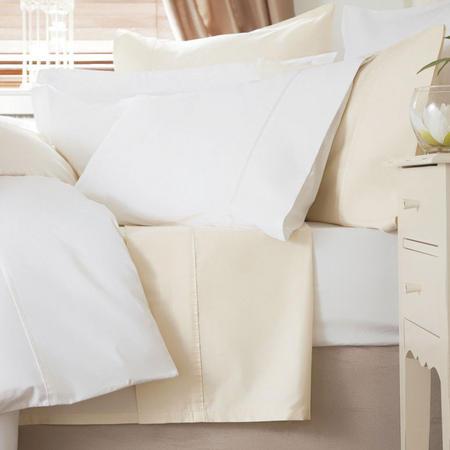 600 Thread Count Cotton Sateen Square Pillowcase White