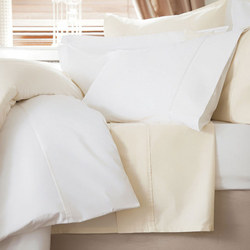600 Thread Count Cotton Sateen Duvet Cover Ivory