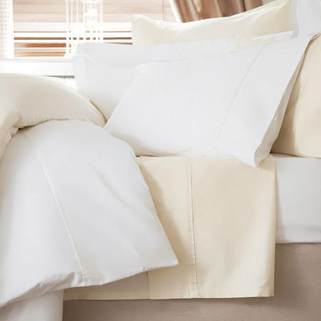 600 Thread Count Cotton Sateen Duvet Cover White