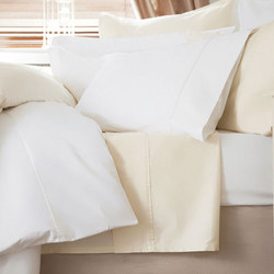 600 Thread Count Cotton Sateen Flat Sheet White