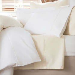 600 Thread Count Cotton Sateen Fitted Sheet Ivory