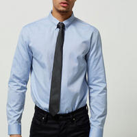 Slim Fit Long Sleeve Shirt Blue