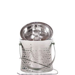 Epicurean Hammered Ice Bucket with Tongs