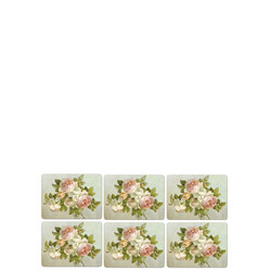 Antique Roses Set of 6 Placemats