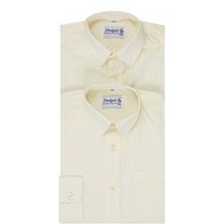Artform Twin Pack Boys Shirt Cream