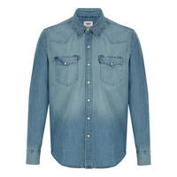 Barstow Western Denim Shirt Blue