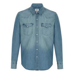 Barstow Western Denim Shirt Blue