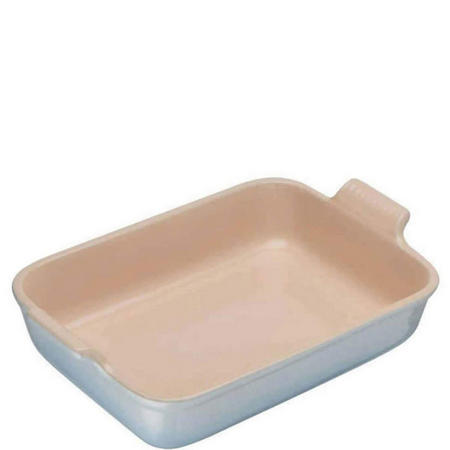 Stoneware Rectangular Deep Dish 32 cm Coastal Blue