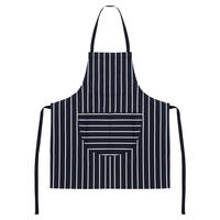 Striped Pocket Front Apron Multicolour