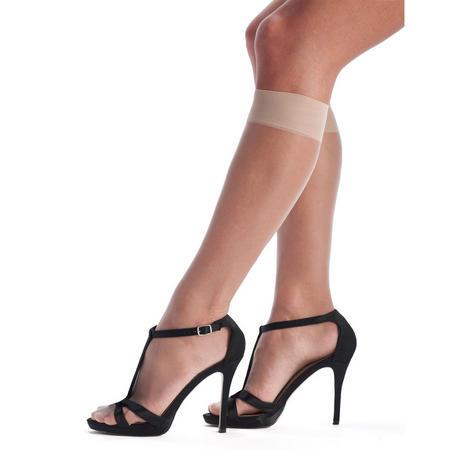 Suntime Bronzing Effect Knee Highs Beige