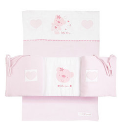 Star Ted Crib Bumper Bedding Set Pink