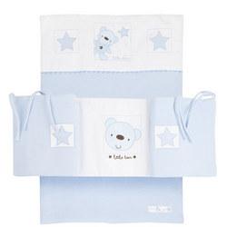 Star Ted Crib Bumper Bedding Set Blue