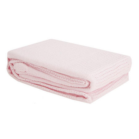 Cellular Blanket for Cot Pink