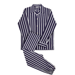 Romeo Striped Pyjamas Navy