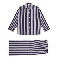 Romeo Striped Pyjamas Navy