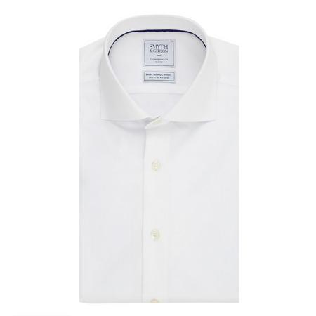 Solid Single Cuff Shirt White