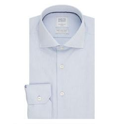Solid Single Cuff Shirt Blue
