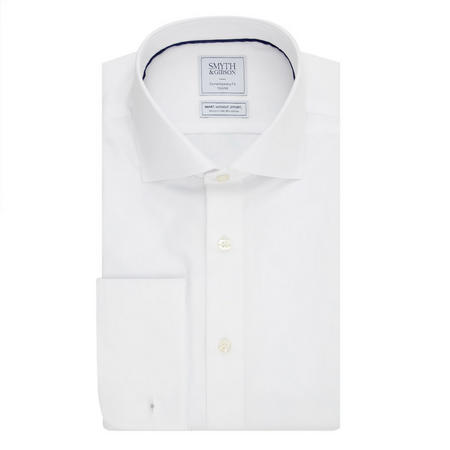 Solid Double Cuff Shirt White