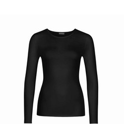 Long Sleeve Soft Touch Top Black