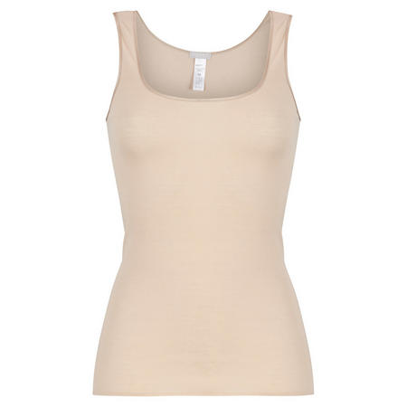 Cotton Seamless Tank Top Natural