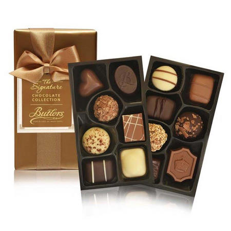 Gift Wrapped Ballotin with 14 Chocolates