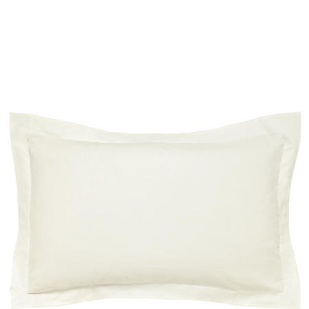 300 Thread Count Cotton Sateen Oxford Pillowcase Ivory