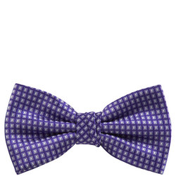 Uomo Geometric Pattern Bow Tie Purple