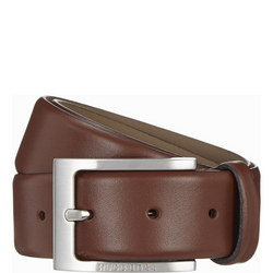 Leather Belt Brown Brown