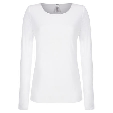 Pure Long Sleeve Top White