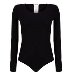 Pure Long Sleeve Bodysuit Black