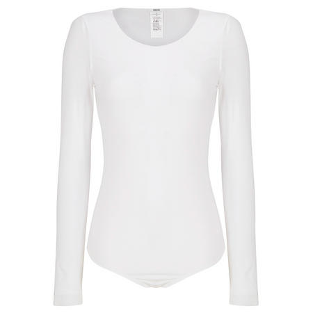 Pure Long Sleeve Bodysuit White