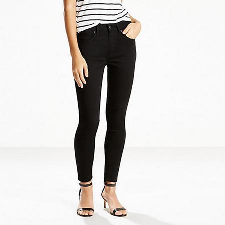 721 High Rise Skinny Jeans Black